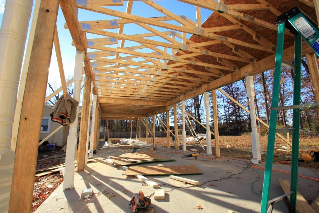 home addition structure framing