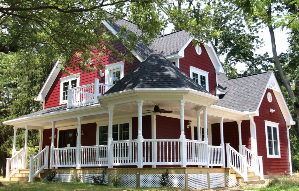 country style custom home exterior