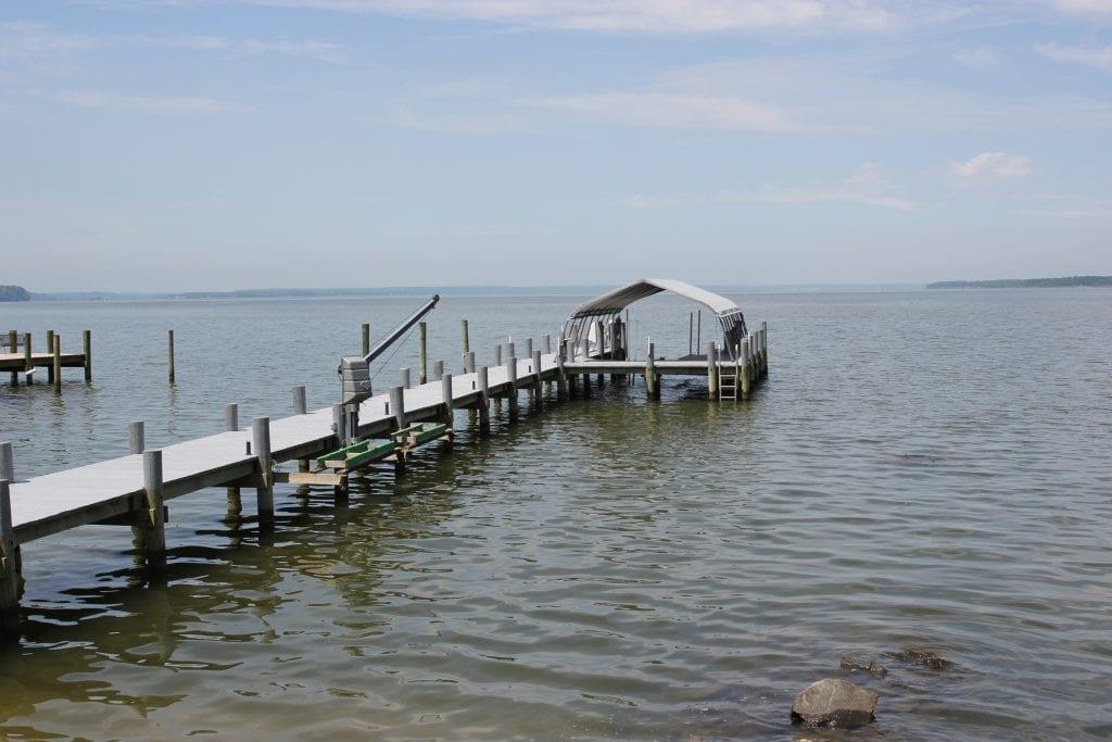 Pontoon Bridge Addition on the lake
