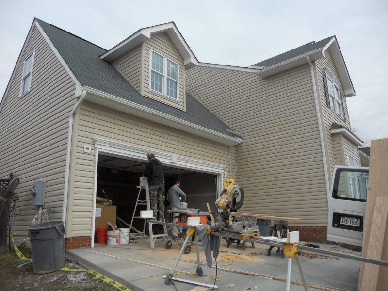 Restored Garage Front View